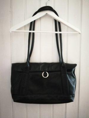 Voi Vintage Tasche Echtleder schwarz