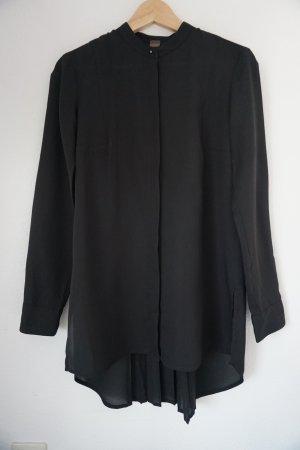 Vokuhila- Bluse mit Faltendetail