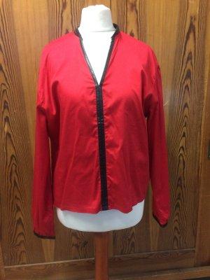 Slip-over blouse rood-zwart