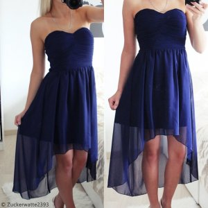 High Low Dress dark blue-blue