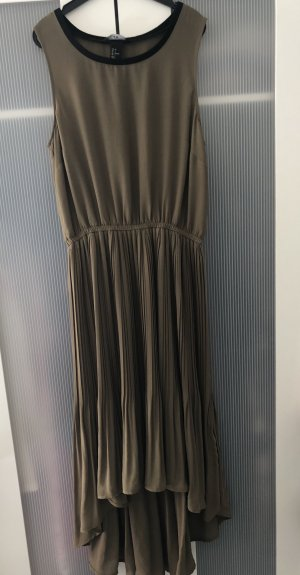 H&M High Low Dress khaki-green grey