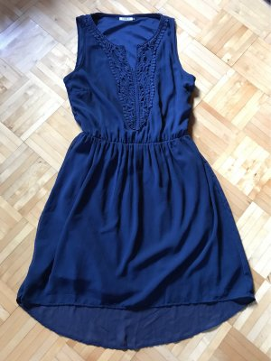 Only High Low Dress dark blue