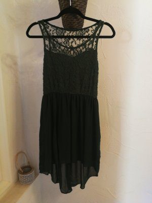 High Low Dress dark green