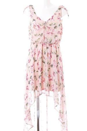 Vokuhila-Kleid Blumenmuster Casual-Look