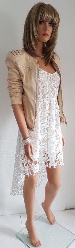 Vokuhila Kleid in Weiß Gr. M - Neu