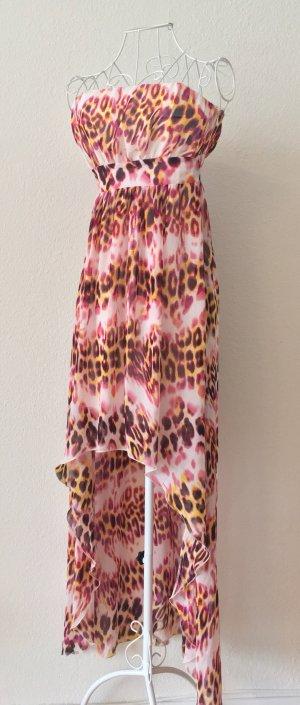 Lipsy Jurk met langere achterkant bruin-roze