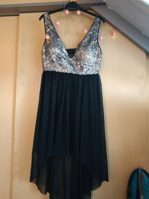 Vokuhila-Kleid mit Pailetten