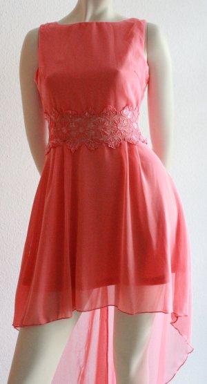 Vokuhila-Kleid mit Spitze