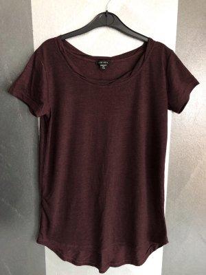 Amisu Long Shirt brown violet