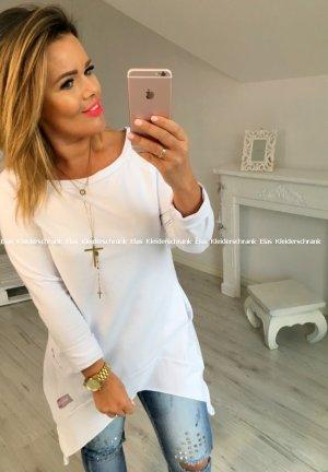 Vokuhila Pullover Longpullover Sweater Blogger  Pulli passt S-L