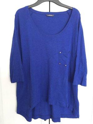 Vokuhila-Shirt Gr. 44/46 - blau