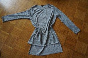 Vokuhila Shirt grau melliert