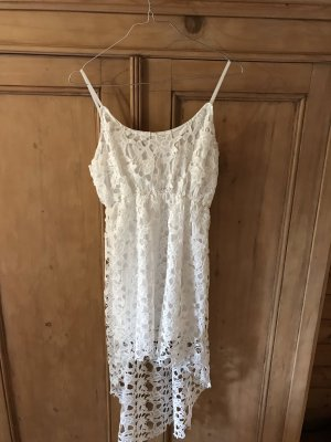 High Low Dress white