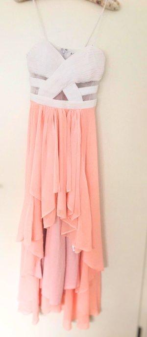 Vokuhila-Sommerkleid mit halbtransparenten Cut-Outs