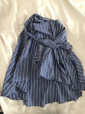Zara Flared Skirt white-blue