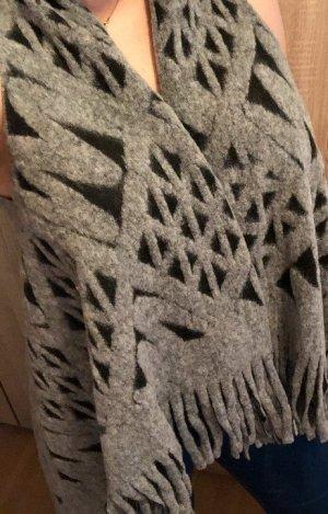 Linea Tesini Chaleco con flecos gris Lana