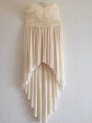 High Low Dress cream-natural white