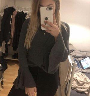 Zara Haut à volants gris
