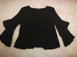Topshop Ruffled Blouse black