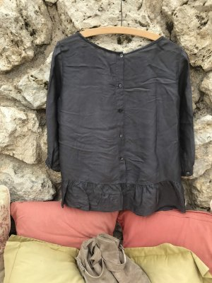 Marc O'Polo Blouse brillante gris anthracite