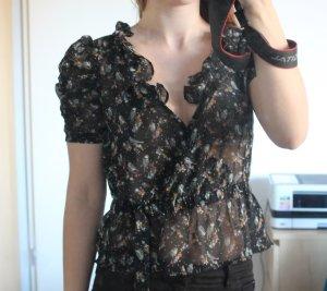 Volant H&M luftiges Oberteil ruschen Bluse