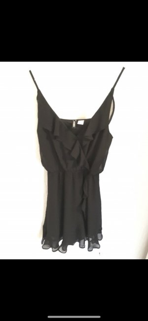 H&M Divided Flounce Dress black