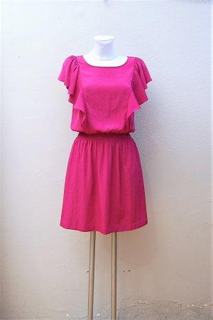 Volant Kleid in Fuchsia