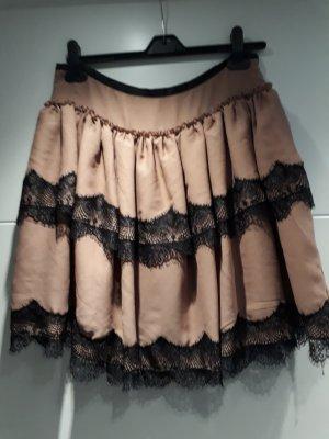 B.young Vestido línea A negro-rosa empolvado