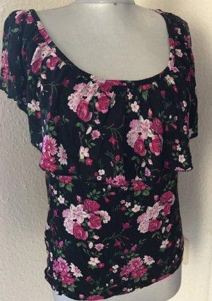 Volant Shirt mit Blumen Muster