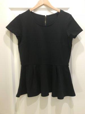 Volant Shirt schwarz Esmara