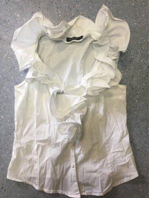 Rinascimento Ruffled Blouse white