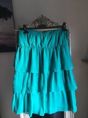 Amisu Flounce Top turquoise