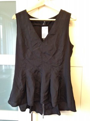 H&M Flounce Top black polyester