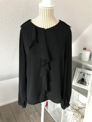 H&M Ruffled Blouse black-gold-colored