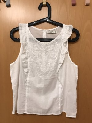 Abercrombie & Fitch Blusa sin mangas blanco