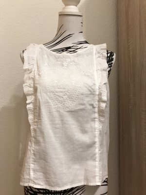 Abercrombie & Fitch Sleeveless Blouse white