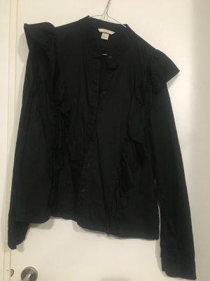 Volantbluse schwarz H&M