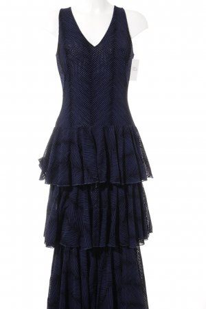 Volantkleid dunkelblau-schwarz Elegant