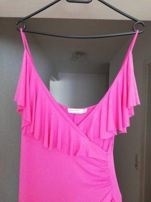 Zara Woman Vestido estilo flounce multicolor Algodón