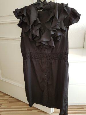 Volante jurk zwart