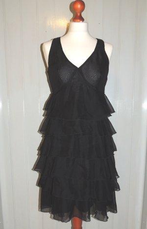 Volantkleid schwarz Größe 36 von Votre Mode