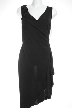 Volante jurk zwart feest stijl