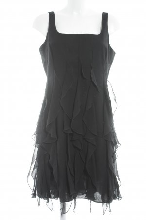 Flounce Dress black party style