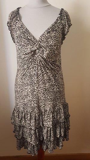 Morgan Vestido estilo flounce blanco-negro