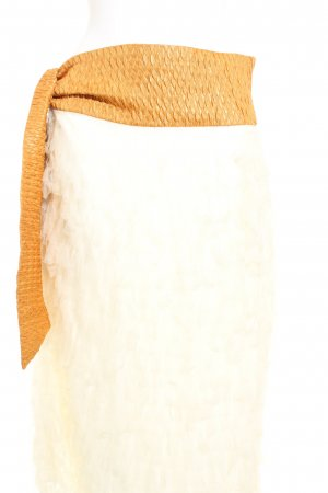 Flounce Skirt cream-gold orange extravagant style