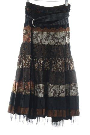 Falda con volantes multicolor tejido mezclado
