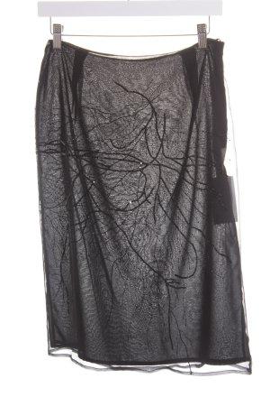 Volantrock schwarz Elegant