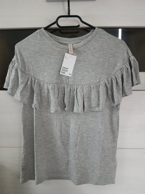 H&M Divided Top con volantes gris