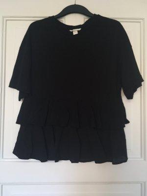 H&M Volanten top zwart