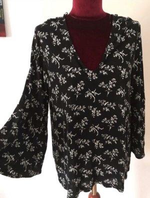 H&M Camicia oversize nero-bianco
